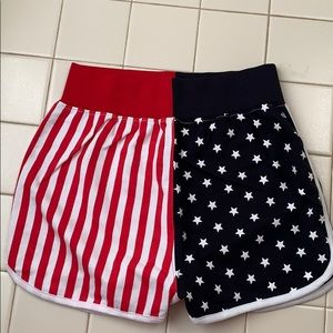 Barbie American Flag Runner Shorts Missguided
